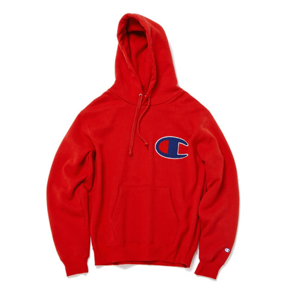 "CHAMPION Action Style Big Logo Sweat C3-E127 ""Red(940)"""