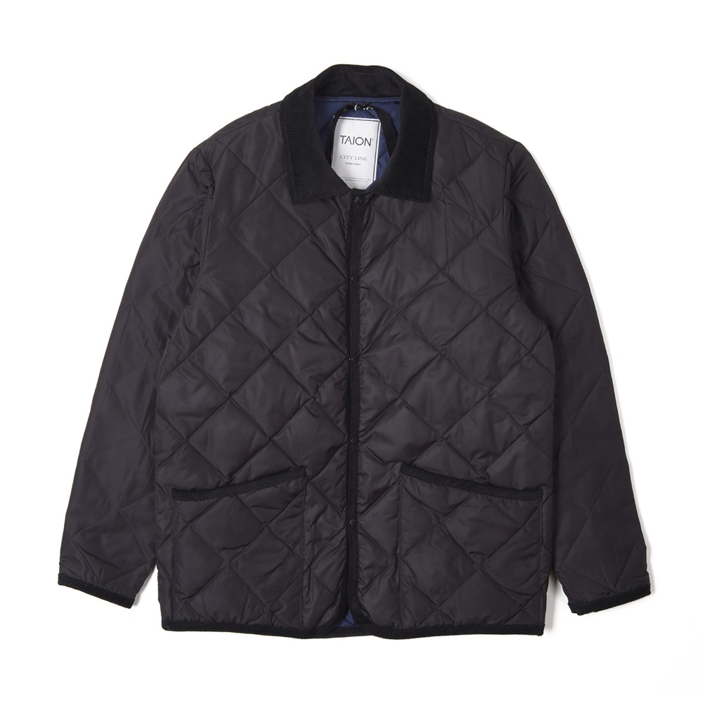 "TAION Piping Collared"" Down Jacket ""Black"""