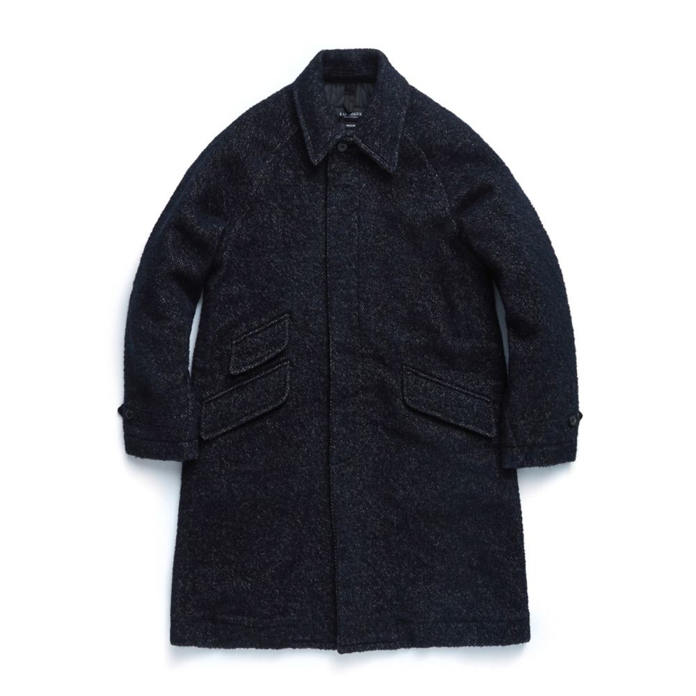 "EASTLOGUE Balmacaan Coat ""Navy Towel"""