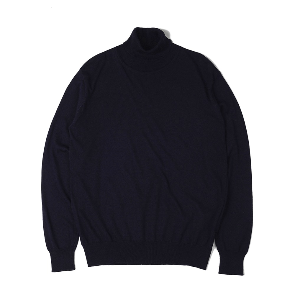 "OOPARTS  Soft Roll Neck Sweater ""Navy"""