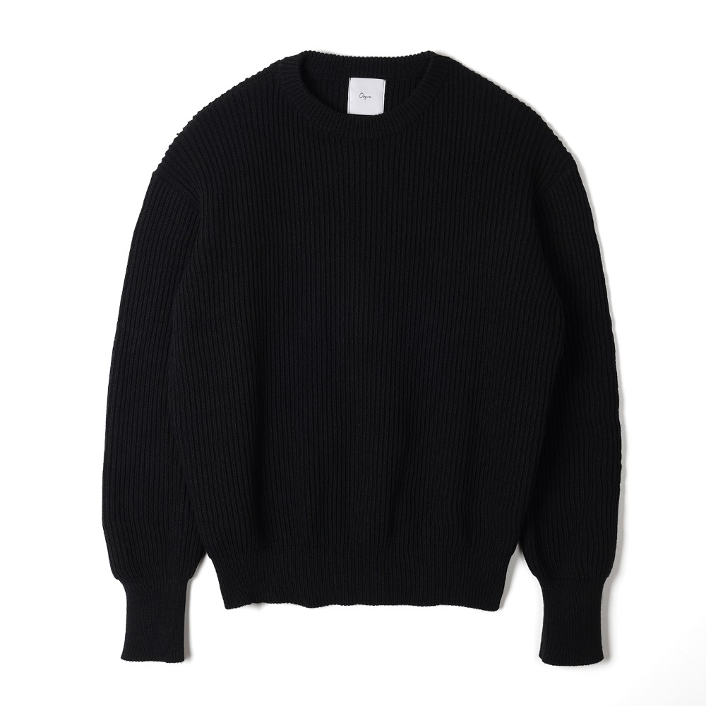 "OOPARTS   Back printing knit ""Black"""