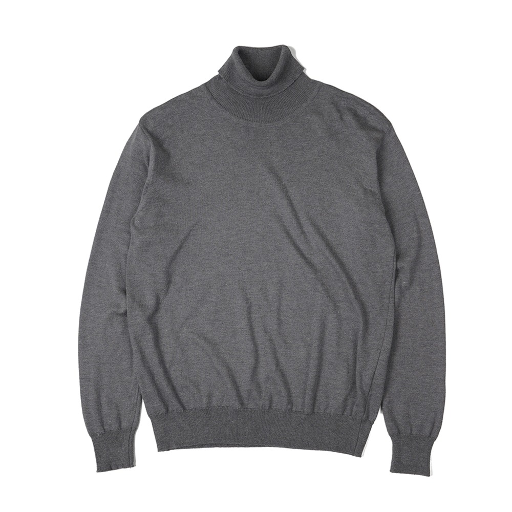 "OOPARTS  Soft Roll Neck Sweater ""Grey"""