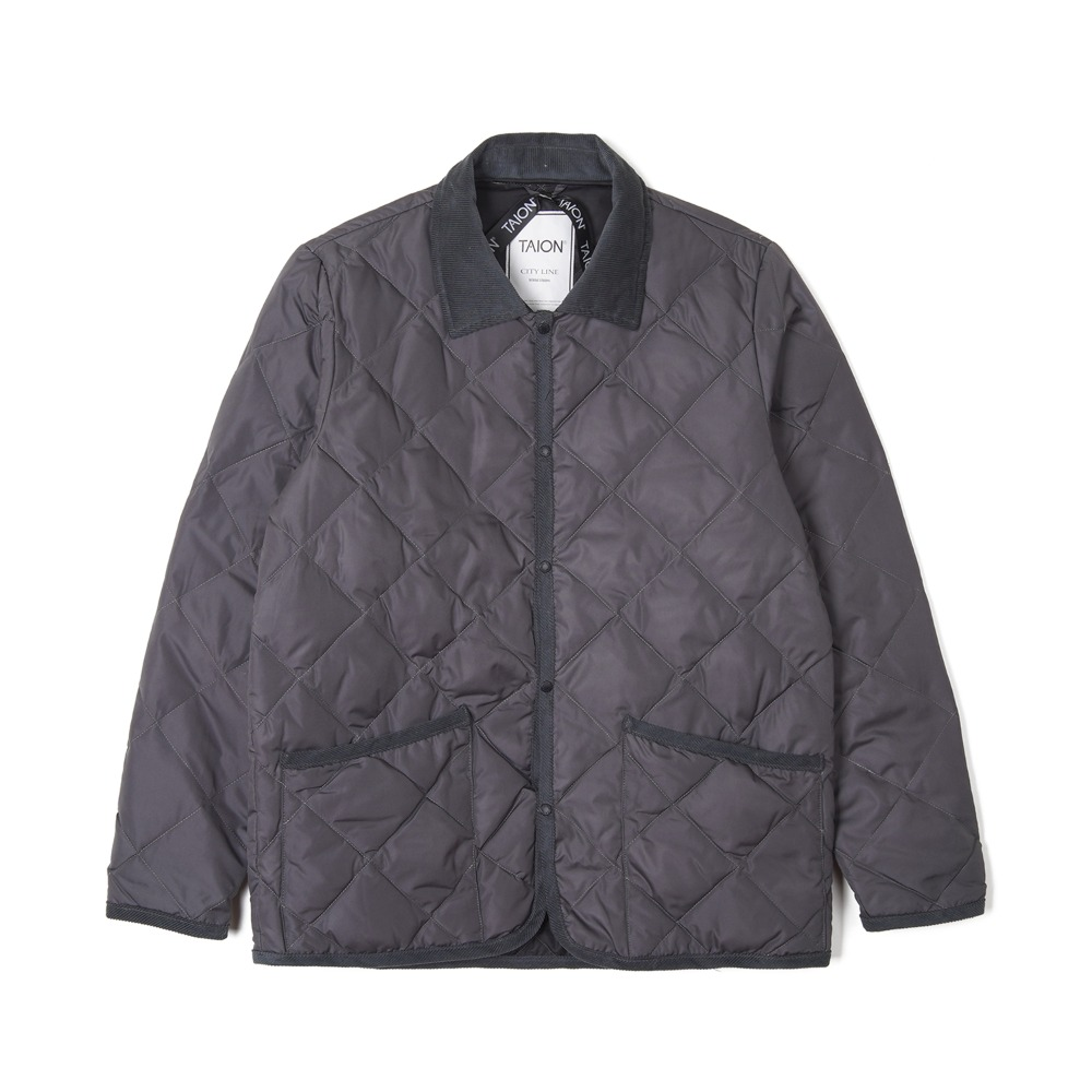 "TAION Piping Collared"" Down Jacket ""Grey"""