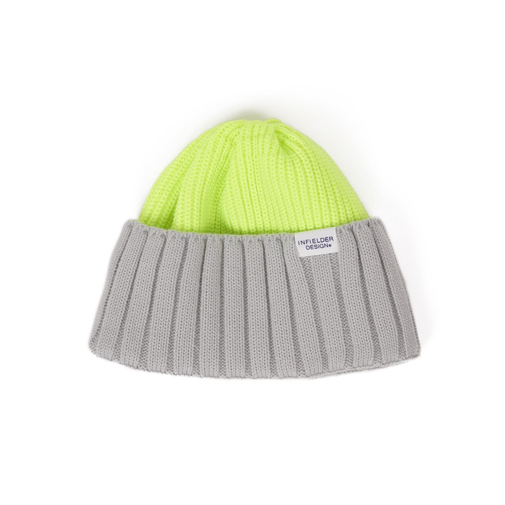 "INFIELDER DESIGNS AC Watch Cap ""Yellow / Grey"""
