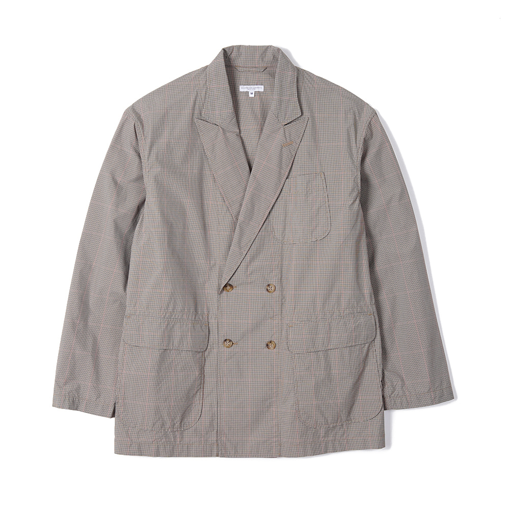 "ENGINEERED GARMENTS DL Jacket ""Khaki Nyco Mini Tattersall Cloth"""